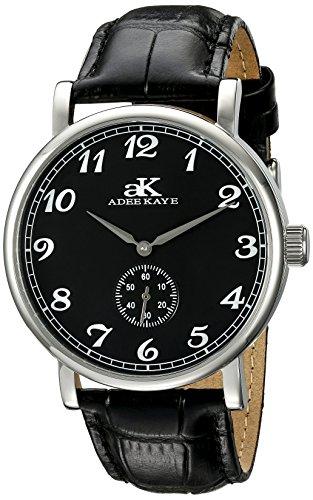 Adee Kaye Vintage Mechanical Herren Automatikwerk Mineral Glas Uhr AK9061 M BK