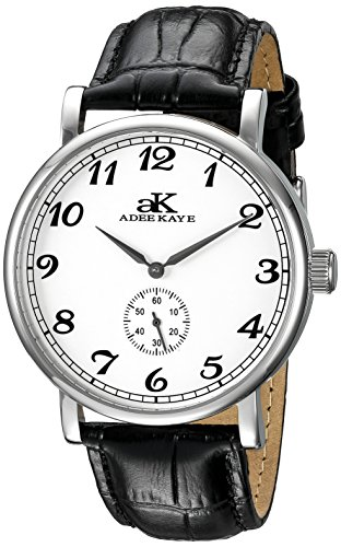 Adee Kaye Vintage Mechanical Herren Automatikwerk Mineral Glas Uhr AK9061 M SV