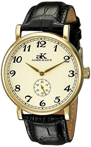 Adee Kaye Vintage Mechanical Herren Automatikwerk Mineral Glas Uhr AK9061 MG