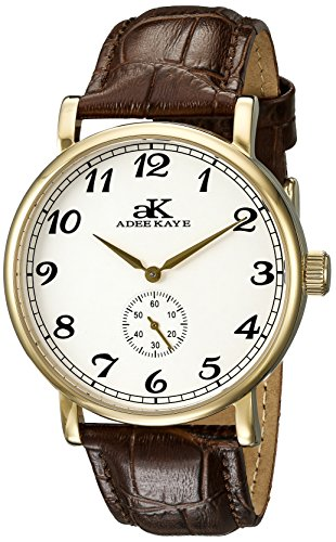 Adee Kaye Vintage Mechanical Herren Automatikwerk Mineral Glas Uhr AK9061 MG SV