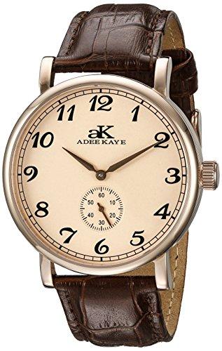 Adee Kaye Vintage Mechanical Herren Automatikwerk Mineral Glas Uhr AK9061 MRG RG