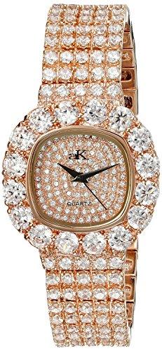 Adee Kaye Bijou Damen Rotgold Blech Armband Blech Gehaeuse Uhr ak26 LRG CR