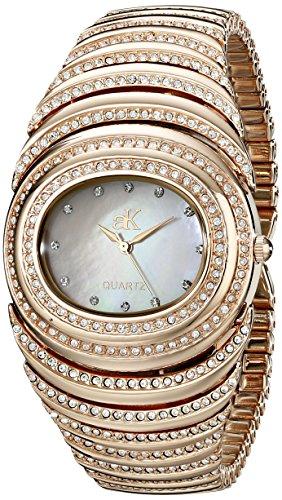 Adee Kaye Optic Damen Rotgold Blech Armband Blech Gehaeuse Uhr ak21 LRG C