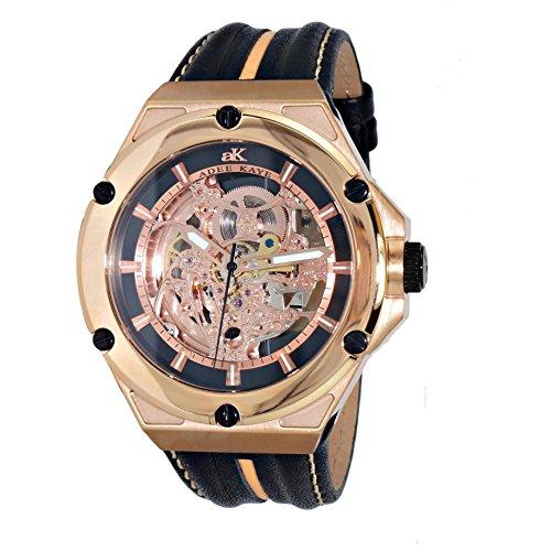 Adee Kaye Skeletal Herren Automatikwerk Multi Color Leder Armband Uhr AK2240 MRG