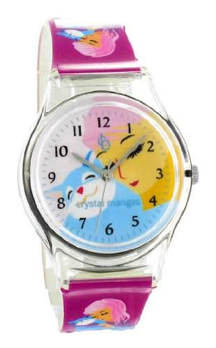 Crystal blue Kinder-Armbanduhr Anime Manga Girl Analog Quarz lila 21935