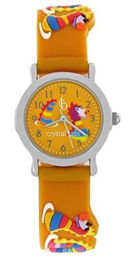 Crystal blue Kinder-Armbanduhr Wasserdrachen Quarz sandfarbend 21946