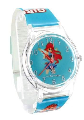 Crystal blue Kinder-Armbanduhr Anime Manga Girl Analog Quarz tuerkis 21960