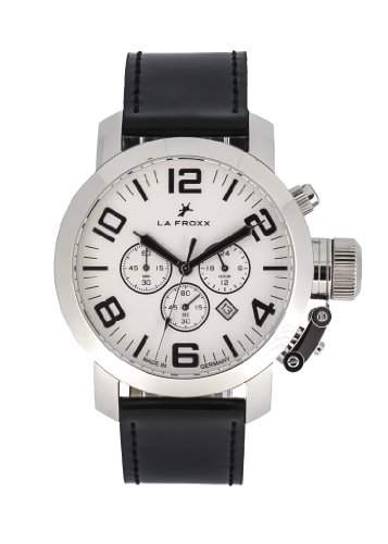 LA FROXX GRENADE Herren Armbanduhr Chronograph Quartz Edelstahl echtes Lederband 16084021