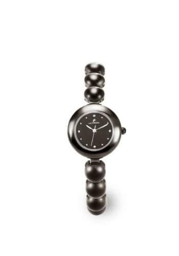 LA FROXX SPHERE Damen Armbanduhr analog Quartz Edelstahl ionenplatiert grau 75965995