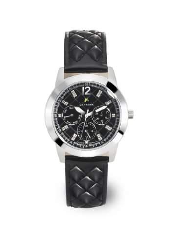 LA FROXX BLACK QUILT Damen Armbanduhr Multifunktion Quartz Edelstahl 77014016