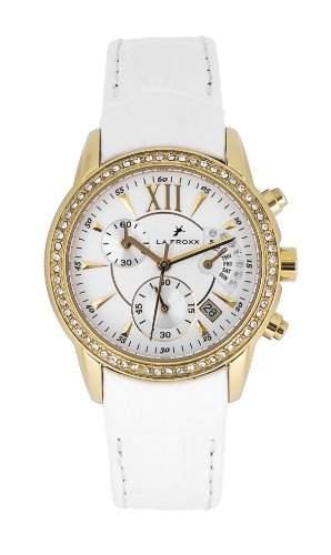 LA FROXX BARONESS Damen Armbanduhr, analog Chronograph Retrograde Lederband 78714011