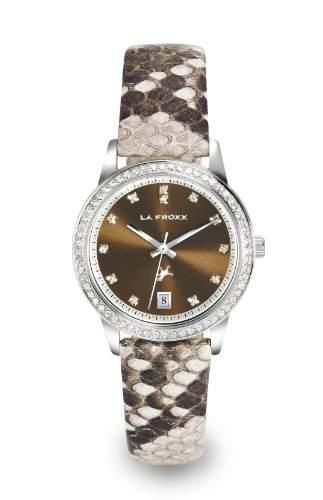LA FROXX MODERN SNAKE brown Damenuhr modisch analog quartz Edelstahl 79524013