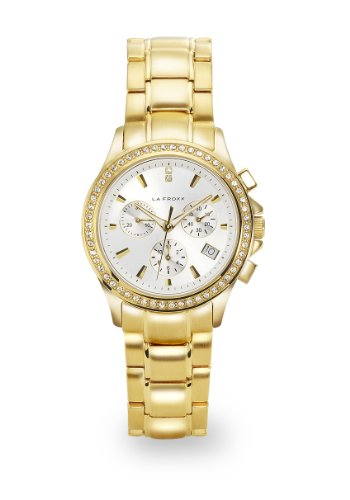 LA FROXX LADY LUCK Damen Armbanduhr Chronograph Quartz Edelstahl IP gold 7879 45 91