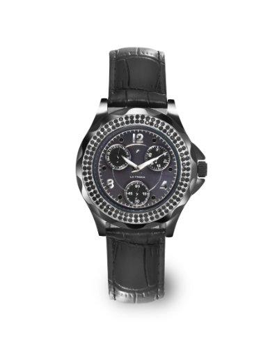 LA FROXX DARK DUCHESSE mit schwarzem Edelstahlgehaeuse Quartz 7630 46 16