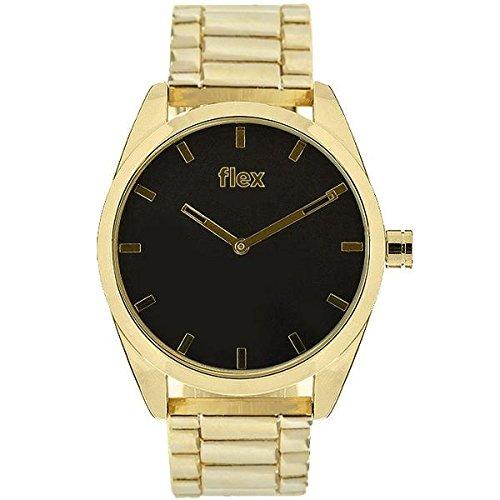Armbanduhr Flexwatches Black Gold Bradly