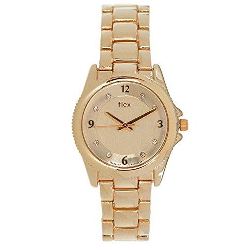 Armbanduhr Flexwatches Rose Gold Crystal
