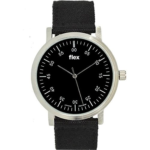 Armbanduhr Flexwatches Black Canvas