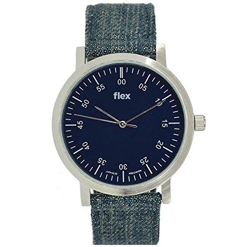 Armbanduhr Flexwatches Denim Canvas