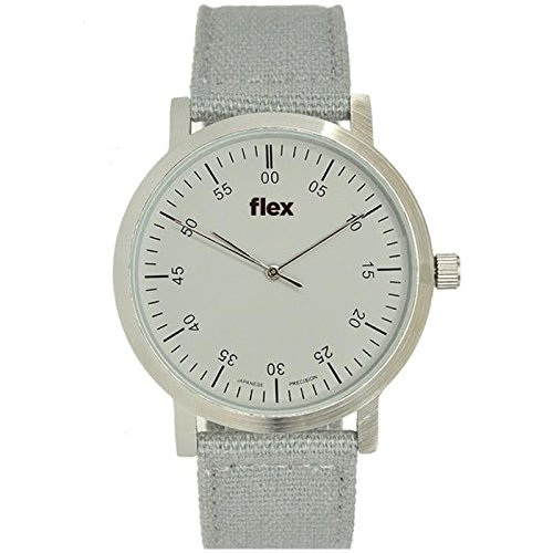 Armbanduhr Flexwatches Grey Canvas