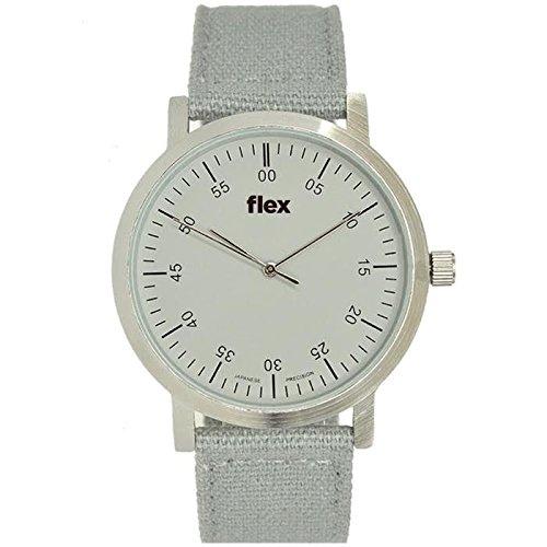 Armbanduhr Flexwatches Grey Canvas