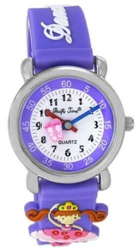 Pacific Time Kinder-Armbanduhr Ballerina Analog Quarz violett 20039