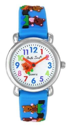 Pacific Time Kinder-Armbanduhr Teddybaer Analog Quarz blau 20060