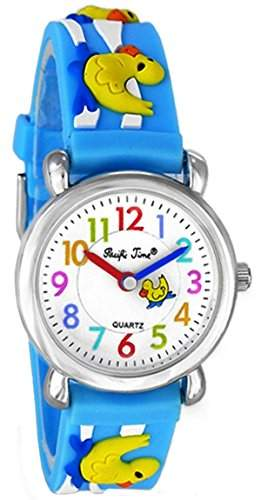 Pacific Time Kinder-Armbanduhr Enten Analog Quarz blau 20086