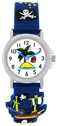 Pacific Time Kinderuhr Jungen Pirat blau
