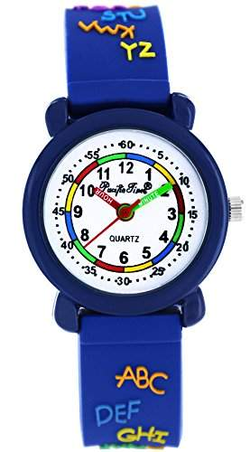 Pacific Time Kinder-Armbanduhr ABC Analog Quarz blau 20651