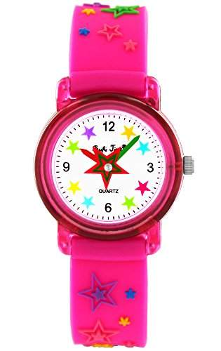 Pacific Time Kinderuhr Maedchen pink Sterne