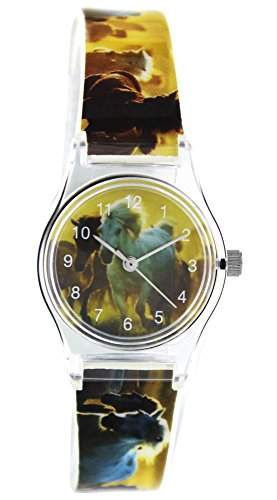 Pacific Time Kinder-Armbanduhr Pferd wilde Steppe Analog Quarz mehrfarbig 20813