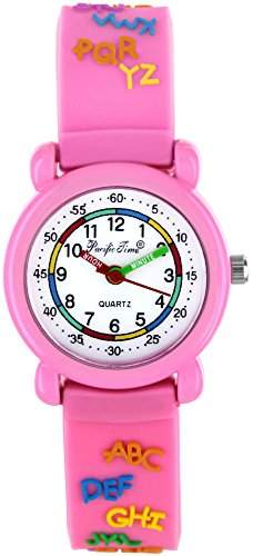 Pacific Time Kinder-Armbanduhr ABC Analog Quarz rosa 21550