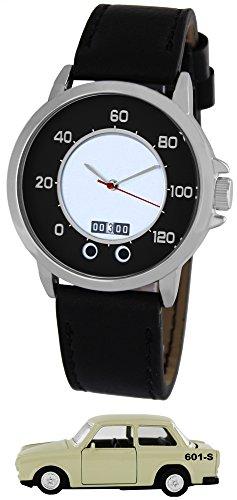 Pacific Time Tacho Design PKW der DDR mit Datum Sammler Edition Analog Quarz schwarz 22324
