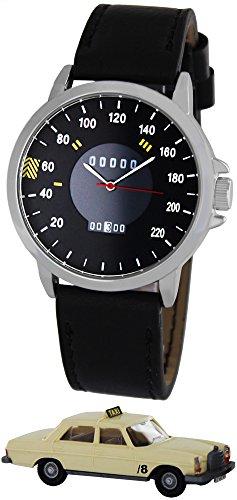 Pacific Time Tacho Design PKW mit Stern mit Datum Sammler Edition Analog Quarz schwarz 22322