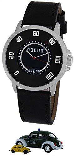 Pacific Time Tacho Design PKW Wolfsburg mit Datum Sammler Edition Analog Quarz schwarz 22320