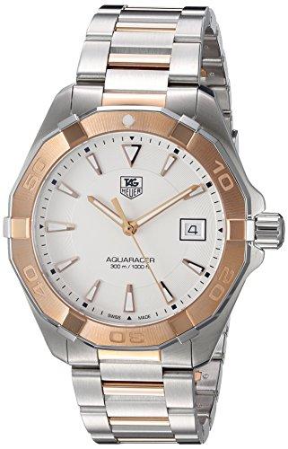 Aquaracer Silber zle Stahl Herren Wahlschalter Rose Gold 18kt und