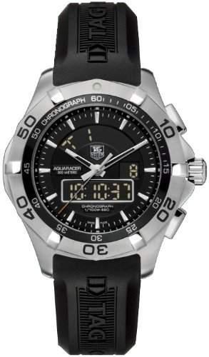 TAG Heuer Damen-Armbanduhr analog-digital Gummi Schwarz CAF1010FT8011
