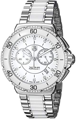 TAG Heuer Damen-Armbanduhr Chronograph Quarz Edelstahl CAH1213BA0863