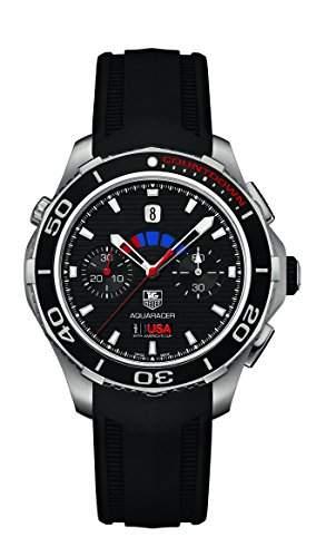 TAG Heuer Herren-Armbanduhr Analog Automatik Kautschuk CAK211BFT8019