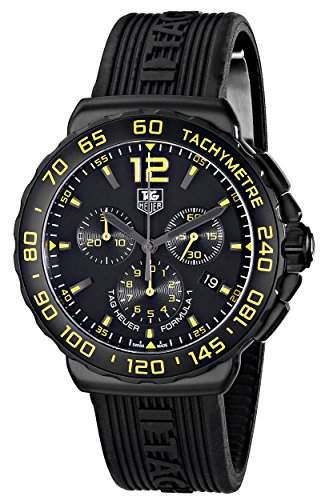 Tag Heuer Formula 1 Herren 42mm Chronograph Edelstahl Gehaeuse Uhr CAU111EFT6024