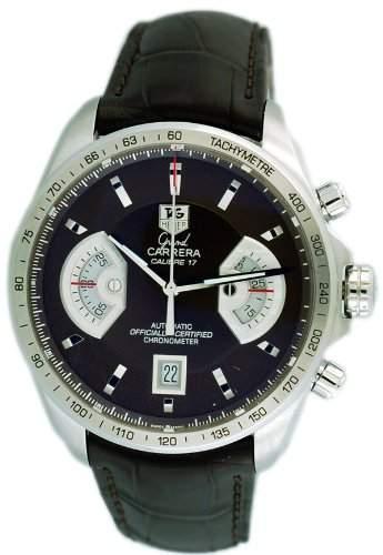 TAG Heuer Herren-Armbanduhr Analog Automatik Leder Gruen CAV511EFC6231