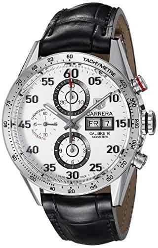 TAG Heuer Herren-Armbanduhr Chronograph Automatik Leder CV2A11FC6235