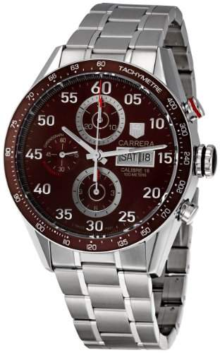 TAG HEUER CARRERA MENS STAINLESS STEEL CASE CHRONOGRAPH UHR CV2A12BA0796