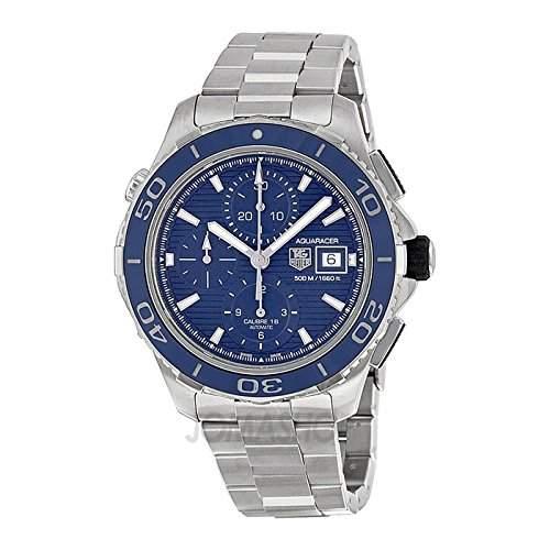Tag Heuer Tag Heuer Aquaracer Chronograph Blau Zifferblatt Edelstahl Stahl Mens Watch CAK2112BA0833