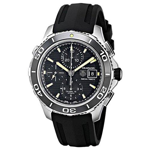 Tagheuer Herren Armbanduhr Chronograph Automatik Kautschuk CAK2111 FT8019