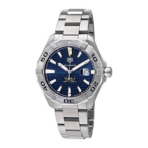 Tag Heuer Herren Aquaracer 43 mm Stahl Armband und Fall Automatik blau Zifferblatt analoge Uhr way2012 ba0927