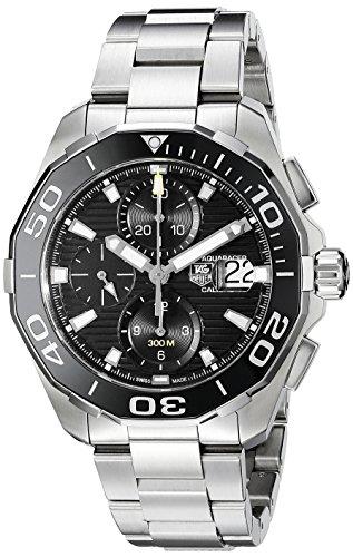 Tag Heuer Aquaracer Herren Armbanduhr Armband Edelstahl Gehaeuse Saphirglas Automatik CAY211A BA0927
