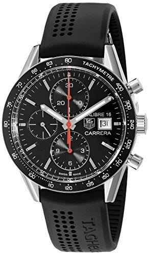 Tag Heuer Herren cv201ak FT6040 Analog Display Swiss Automatische schwarz Armbanduhr