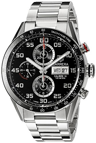 Tag Heuer Carrera Herren Armbanduhr 41mm Armband Edelstahl Gehaeuse Saphirglas Automatik CV2A1R BA0799