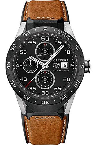 Tag Heuer sar8 a80 verbunden ft6070 braun Kalbsleder Leder Herren Smartwatch
